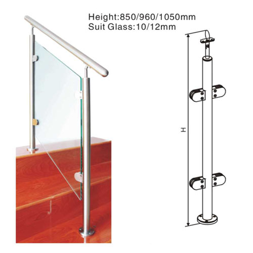 High Quality Stainless Steel Glass Balcony Railing U Channel handle tube System