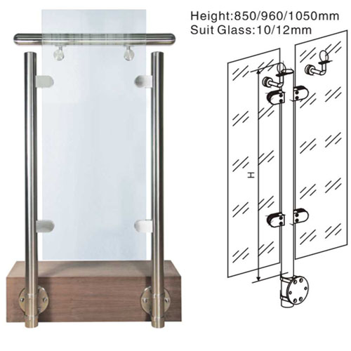 Modern interior/exterior stainless steel ss304/316 glass panel deck railing system