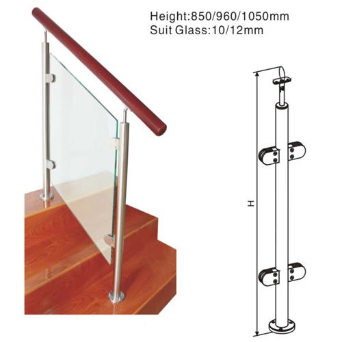 High quality modern stainless steel railing systems for stair