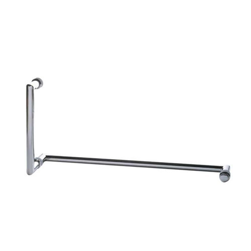 Mitered Corner Pull Handle and Towel Bar Combo with Metal Washers